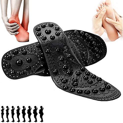 Abnehmen Akupressur Einlegesohlen, Magnetische Massage Einlegesohlen Orthopädische Sohlen Insoles Gegen für Herren Damen - Ermüdung Entlasten- Schneidbare Größe ( Color : 1Pair , Shoe Size : 35~40 )
