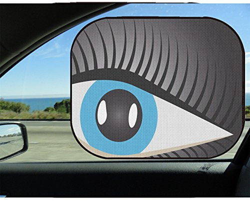 Liili Car Sun Shade for Side Rear Window Blocks UV Ray Sunlight Heat - Protect Baby and Pet - 2 Pack Image ID 33397349 Human Eye with Eyelashes on a Dark Background
