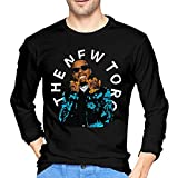 HaErBinBao Tory Lanez Long Sleeve T Shirt Mens Casual Crew Neck Cotton Tops Pullover Shirt Black
