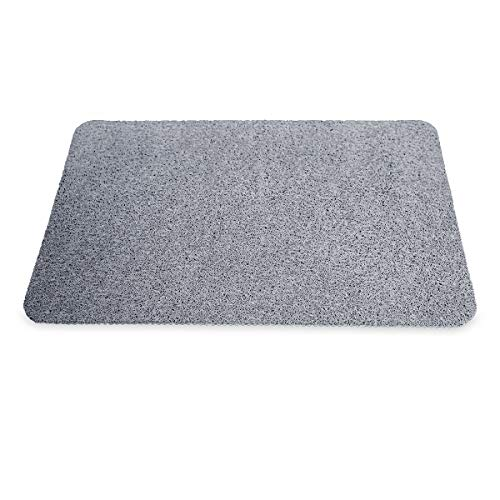 JML Hydro Wonder - Super-comfy shower mat that never stains or blocks your drains - Grey
