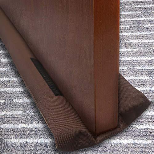 slashome Zugluftstopper unter der Tür, 91,4 cm, Doppeltüren-Zugluftschutz, Schallschutz, doppelseitig, Geräuschblocker, maschinenwaschbar, geeignet für Türspalt unter 1,8 cm