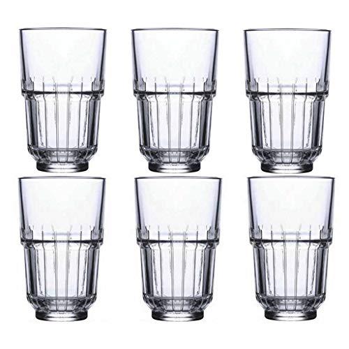 Juego De Tazas Cada Juego De 2 O 6 Paquetes Cada Taza Es Corta De 8 Oz De Alto 12 Oz Cristalería Creativa Se Usa Para Vasos De Agua, Cerveza O Refrescos ( Color : TransparentB , Size : 8*8*12.5cm )