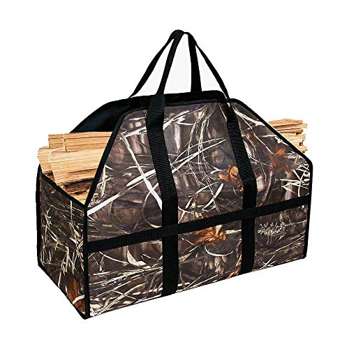 Kadahis 薪トートバッグ ログキャリー 帆布 薪ケース キャンバス 暖炉ストーブアクセサリー まき 持ち運び用 アウトドア キャンプ 暖炉・薪ストーブ用品
