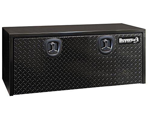 Buyers Products 1702510 Black Steel Underbody Truck Box with Aluminum Door, 18 x 18 x 48 Inch