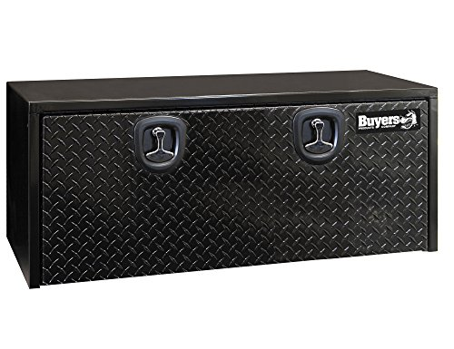 Buyers Products Black Steel Underbody Truck Box w/ Aluminum Door (18X18X48 Inch)