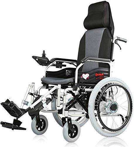 Elektrische Rollstühle für Erwachsene Ältere Elektro-Rollstuhl for Behinderte Car intelligente automatische tragbare Scooter Multifunktionsfalten, leicht faltbare Elektro-Rollstuhl mit 360 ° Joystick,