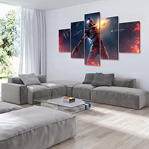 HSBZLH Pittura Murale Arte della Parete 5 Pezzi Decorazioni per La Casa Effetto di Massa Stampa HD...