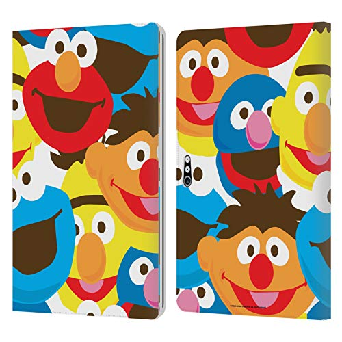 Head Case Designs Officially Licensed Sesame Street Artistic Faces Patterns Leather Book Wallet Case Cover Compatible with Microsoft Surface Pro 4/5/6