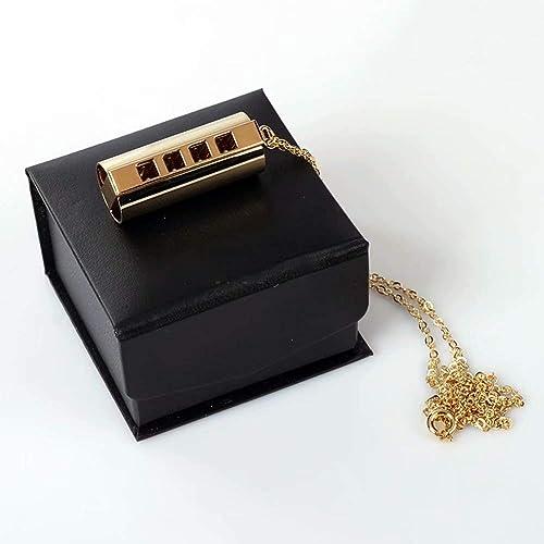 Mini-Mundharmonika-Tonart C, 4 L er 8 T -Mundharmonika, Metallkette für Kinder, Kinder, Anf er für Partys, Feiertage als Geschenk