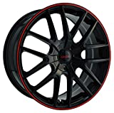 Touren TR60 3260 Wheel with Black Finish with Red Ring (18x8'/5x110mm)
