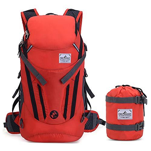 FAMFN ハイドレーションバッグ ハイキングバックパック 登山 小型ザック 超軽量 折りたたみ式 30L 水分補給付き