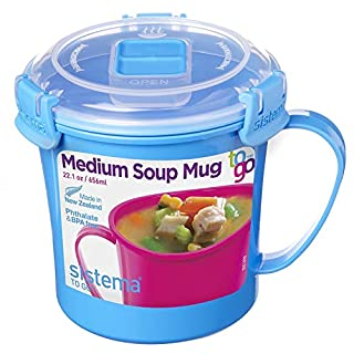 Sistema 211072ZS Microwave Soup Mug, 2.8 Cup, Medium, Blue (B01GOE7C10) | Amazon price tracker / tracking, Amazon price history charts, Amazon price watches, Amazon price drop alerts
