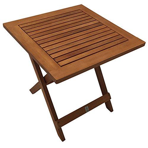 lifestyle4living Gartentisch, Klapptisch, Balkontisch, Holztisch, Eukalyptusholz, geölt, Gartenmöbel Holz, Gartenbeistelltisch