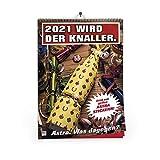 ASTRA A3 Wandkalender 2021 mit unterschiedlichen Bier-Motiven und Stickerbogen, lustiger Kalender...