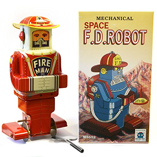 WATSONS Pompier - Retro Tin Robot Ornement collectables - Rouge