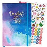 Dotted Bullet Notebook/Journal - Dot Grid Hardcover Notebook, Premium Thick Paper with Stickers and Page Quick Page Finder, 5.75' x 8.4'