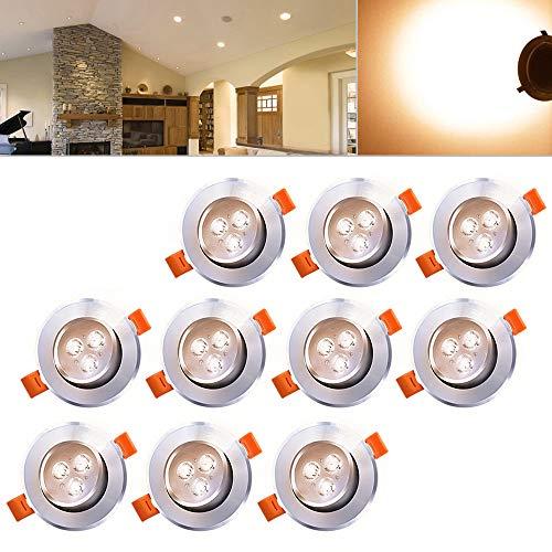 Hengda® LED Einbauleuchte Wohnzimmer Decken Leuchte Lampe Spot Strahler (10pcs Warmweiß)