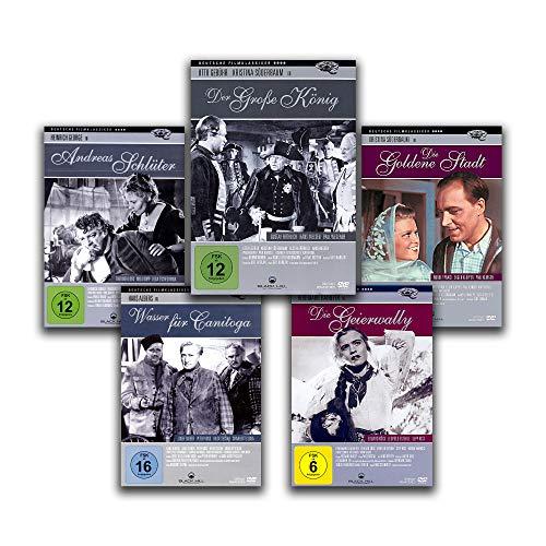 GROSSE DEUTSCHE FILMKLASSIKER – Der große König / Die goldene Stadt / Andreas Schlüter / Die Geierwally / Wasser für Canitoga [5 DVD-Set]