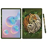 MightySkins Skin for Samsung Galaxy Tab S6 10.5' - Tiger Yin Yang | Protective, Durable, and Unique Vinyl Decal wrap Cover | Easy to Apply, Remove, and Change Styles | Made in The USA