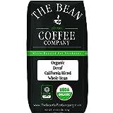 The Bean Coffee Company Organic Decaf California Blend, Medium Dark Roast, Whole Bean