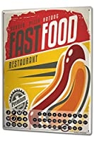 カレンダー Perpetual Calendar Food Restaurant Hot Dog Tin Metal Magnetic