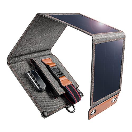 Cargador Solar 14W Impermeable Portátil USB Cargador de Panel Solar al Aire Libre...