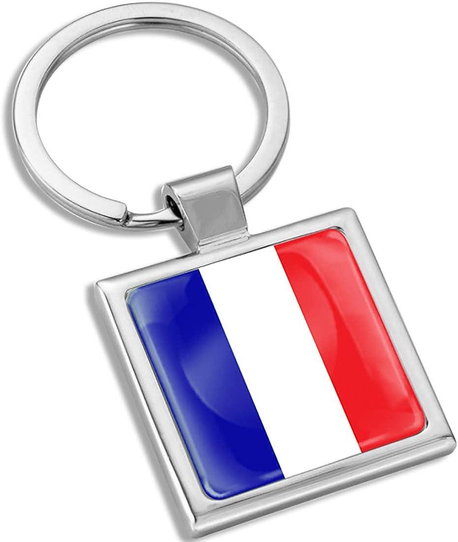 Biomar Labs 3D Metal Keyring Key Chain Gift Men Women Keychain Giftbox France French National Flag KK 286