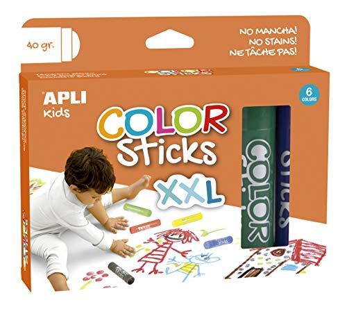 APLI Kids 17538 - Color Sticks XXL 40 g 6 u.