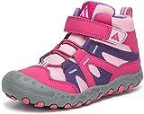 Mishansha Botas de Senderismo para Niña Zapatos de Trekking Antideslizante Ligero Zapatillas de Montaña Cómodos Exterior, Rosa, 31 EU