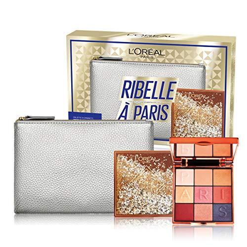 L'Oréal Paris Idea Regalo Donna, Pochette con Palette 9 Ombretti SnowGlobe
