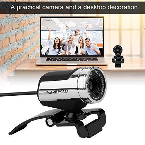 Richer-R HD Webcam, 1080P HD USB PC Webcam Netzwerk Computer Web Cam,USB 2.0 Plug-and-Play Webkamera Horizontal 360 °Drehung Netzwerkkamera mit Mikrofon für PC Laptops und Desktop