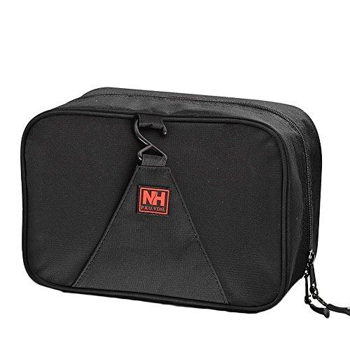 P.KU.VDSL® Multipli Compartimenti Viaggiare Appeso Necessaire Cosmetici Caso di Trucco Borsetta da Toilette Beauty Case da Viaggio (Nero1)