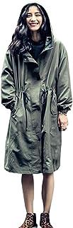(ワンース) Wansi レインコート レディース ロングコート 合羽 ゆる フード付き 無地 防雨 防風 晴雨兼用 ファッション カジュアル 旅行