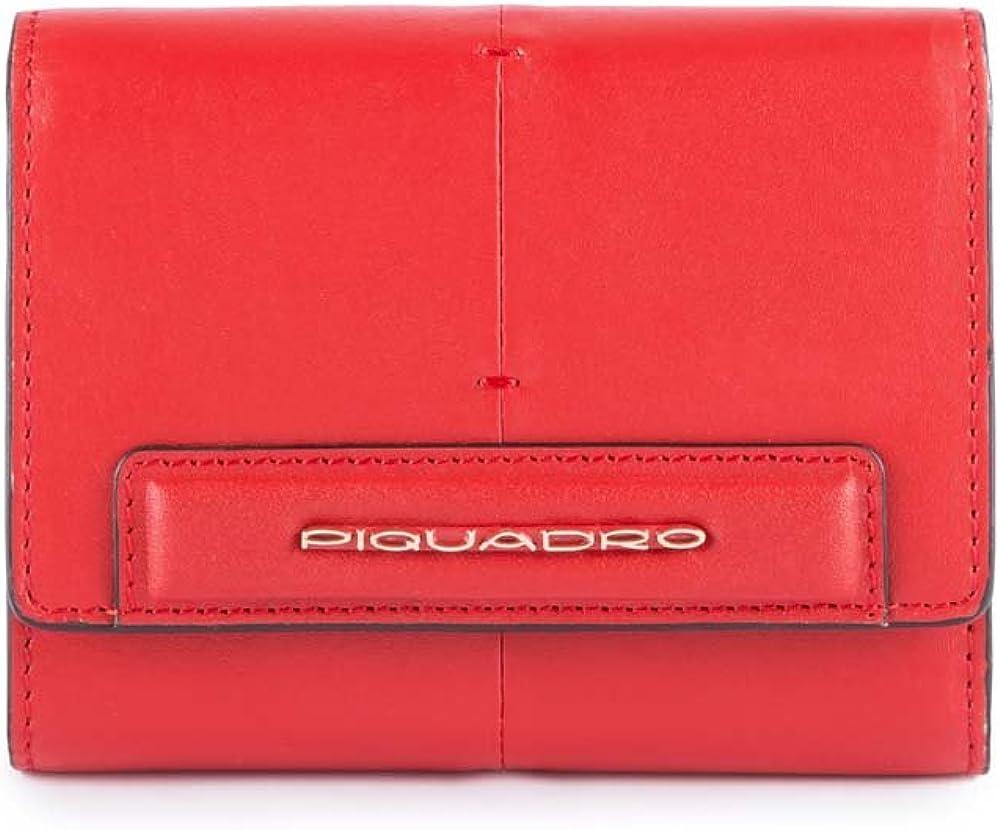 Piquadro splash , portafoglio per donna , in pelle PD4145SPLR/RSA