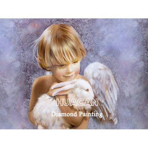 CDNY Niño Retrato-Kit de Pintura de Diamantes 5D-Punto de Cruz Diamante,-decoración del hogar,40x50cm