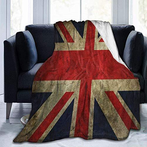 my cat Decke UK Flagge Britische Flagge von England Fleece Decke Faltbare Überwurfdecke Waschbare Couch Sofa Decke Wendbare Plüschdecke Stranddecke