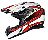 Qtech Casque de Motocross Moto Helm Enduro Quad ATV FMX MTB MX - Rouge - XL (61-62cm)