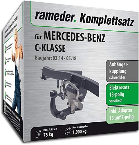 Rameder Komplettsatz, Anhängerkupplung schwenkbar + 13pol Elektrik für Mercedes-Benz C-KLASSE (140956-11851-1)