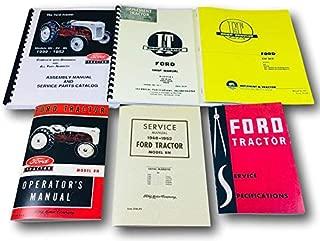 Lot 6 Ford 8N Tractor Manuals Shop Operators Parts Catalog Service Repair Owner