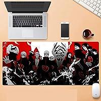 マウスパッドNARUTO -ナルト-水洗い 大型 PC ゲーミングマウスパッド 滑り止め快適である PC キーボードパッド 耐久性 高級感 オフィス テーブル デスクマット 肘疲労軽減-A_700x300x3mm