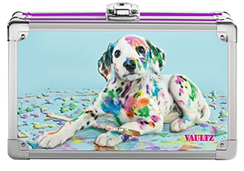 Vaultz Locking Supplies & Pencil Box with Key Lock, 5'x 2.5'x 8.5', Painted Puppy (VZ03599)