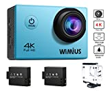 WiMiUS Actioncam 4k Action Cam HD Action Kamera WiFi Actionkamera 16MP Sport Kamera mit 2...