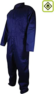 Magid N1540 A.R.C. Cotton Arc-Resistant Coverall, Mandarin Collar, Medium, Navy Blue