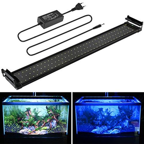 BELLALICHT Aquarium LED Beleuchtung, Aquariumbeleuchtung Lampe Weiß Blau Licht 18W mit...