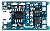 Módulo de carga de iones de litio TP4056 + DW01, corriente de carga de 1 A, microUSB para batería de iones de litio de 3.7V/baterías de LiPo/batería de 1 celda/(MicroUSB con IC de protección DW01)