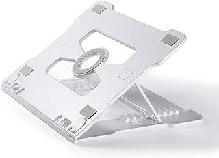 ノートパソコン スタンド 折りたたみ PCスタンド 八段高さ角度調整可能 PCホルダー 軽量 姿勢改善 携帯便利PC/MacBook/ラップトップ/iPad/タブレット 15.6インチまでに対応 (ホワイト)
