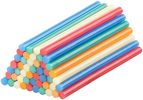 AGT Heißklebestifte: 50 Klebesticks für Heißklebepistolen, 11 x 200 mm, bunt (Allzweck-Klebesticks)