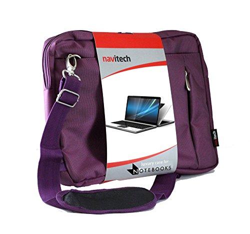 Navitech Lila premium Wasser wiederständige Shock sichere Ultrabook / Laptop / Tablet trage Tasche / Case speziell für das Acer Aspire ES1-111M 11.6-Inch / Acer One 10 / Acer Aspire One Cloudbook 11.6