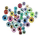Juguete Peluche Ojos Movibles Nuevo 50 pcs Gracioso Multicolor Joggle JuguetesDIY 10/16 / 20mm Plástico Googly
