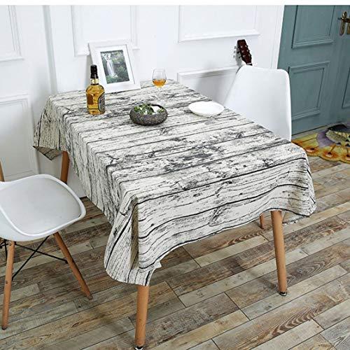 LouiseEvel215 Grano de Madera patrón Creativo paño de Tabla de algodón mantelería...
